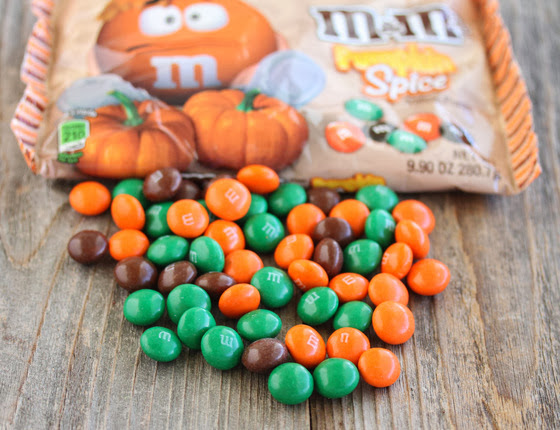 photo of pumpkin spice m&m's