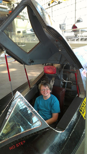Sitting in the cockpit of a fighter jet