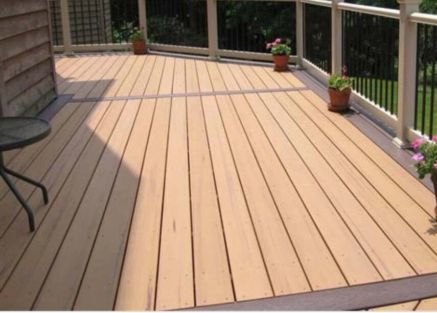 hardwood decking and composite decking