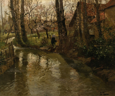 Frits Thaulow - Stream through a Village