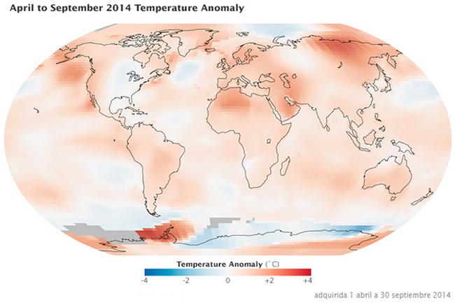 Sobre los datos de la temperatura global del Planeta y su evolución en los últimos 130 años
