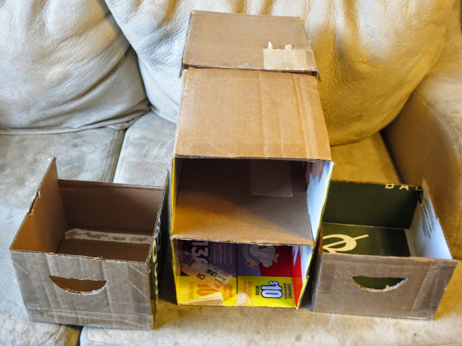 cardbord bedside drawers