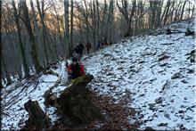 Ascenso al monte Zaldiaran el 1 de enero