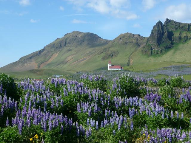 Hillside church at Vik, Iceland