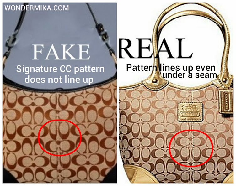 53e4732719 How to spot a fake COACH bag  Pictures and videos here!