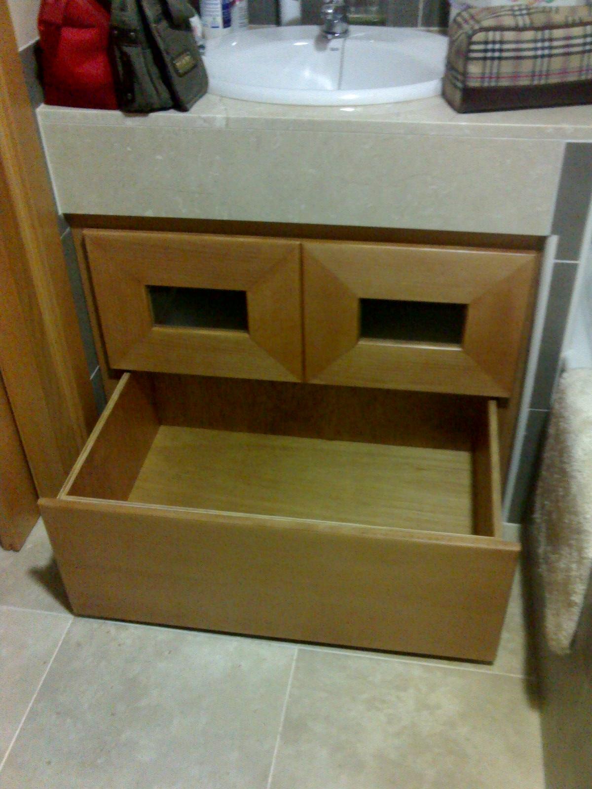 Arte madera mueble de ba o con cajones sin tiradores - Tiradores muebles bano ...