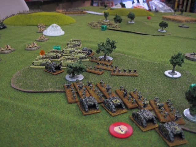 Matt's Siegemasters take on Chris' Iron Warriors.