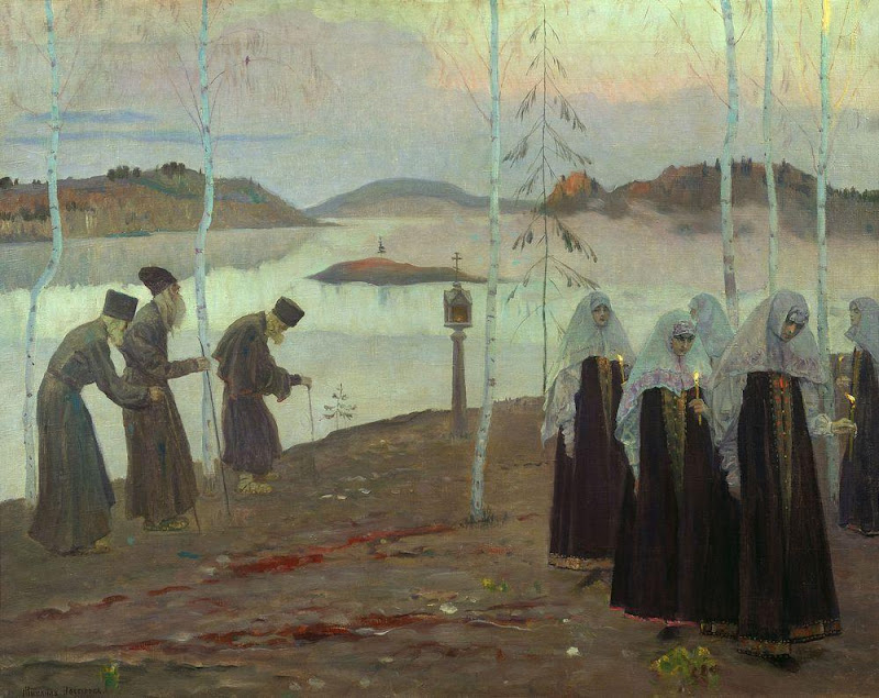 Mikhail Nesterov - Hermit fathers and immaculate women