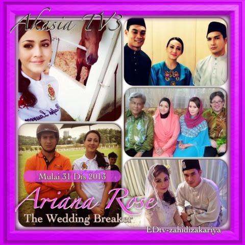 -gambar pelakon drama Ariana Rose, adaptasi novelThe Wedding Breaker