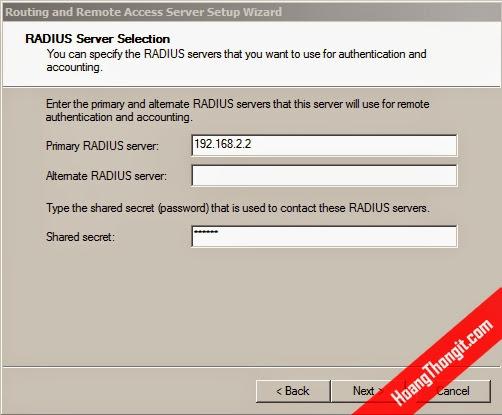 Cấu hình VPN Client Access