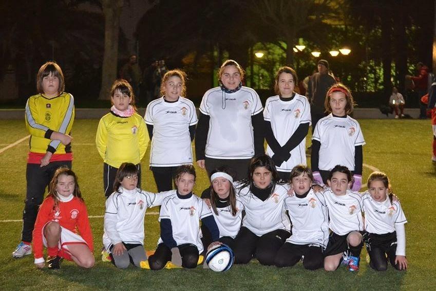 Components que formen ara mateix l'equip de futbol base femení. Foto: Ontinyent CF Femení