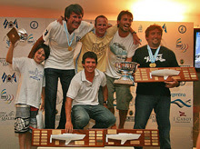 Team Luca- J/24 Worlds winners- sailing off Argentina