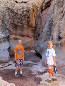 Michael and Bradley in the narrows