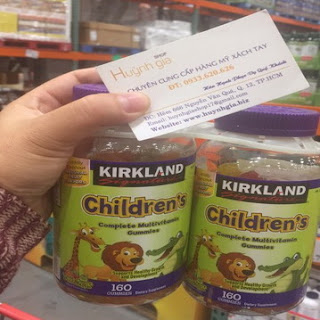 Kẹo Bổ Sung Vitamin Tổng Hợp Cho Bé Kirkland Children's Multivitamin 160 Viên hàng xách tay từ Mỹ