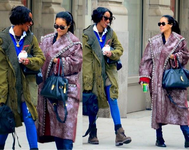Rihanna in Chanel's Pre-Fall 2015 Coat, DYLANLEX