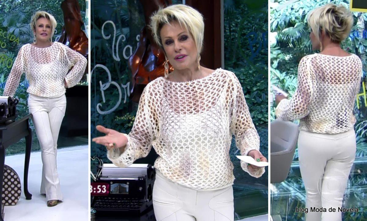 moda do programa Mais Você - look da Ana Maria Braga dia 13 de junho