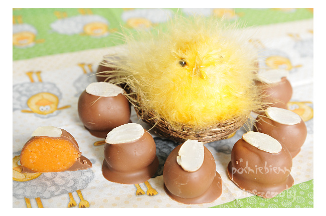 Wielkanocne, marcepanowe pralinki