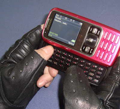 Fingerless Leather Gloves are Great Texting Gloves, from AbbyShot Clothiers