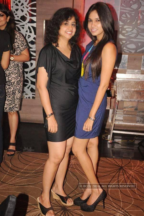 Manjri Tekriwal and Jeevika Rai during birthday party, held at Hotel Centre Point, in Nagpur.