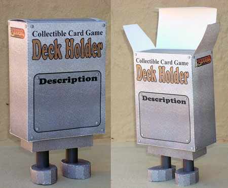 Collectible Card Game Deck Holder Paper Toy