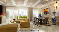 Thiết kế nội thất đẹp và hiện đại cho căn hộ cao cấp - TỦ ÂM TƯỜNG