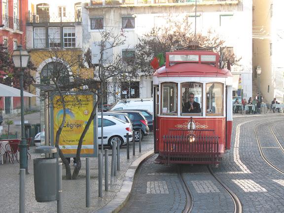 Tranvías en Lisboa.