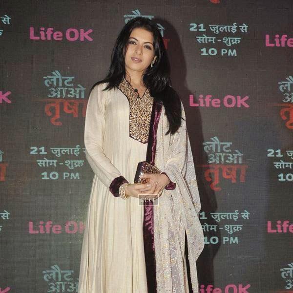 Bhagyashree during the launch of the TV serial Laut Aao Trisha, held at Westin Mumbai. (Pic: Viral Bhayani)<br />