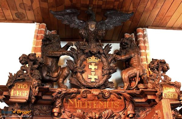 Herb Gdańska w Ratuszu Głównego Miasta