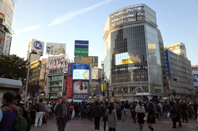 渋谷Qフロントのある、のスクランブル交差点