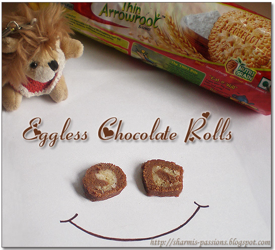 Eggless Chocolate Rolls