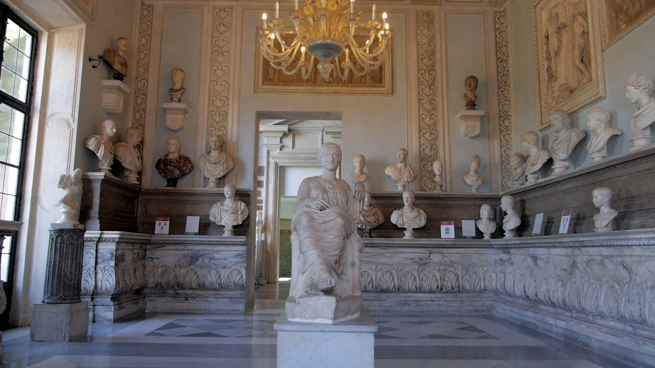 Italy: Hall of the Emperors at the Capitoline Museums in Rome restored