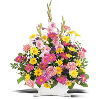 Send A Funeral Basket of Flowers