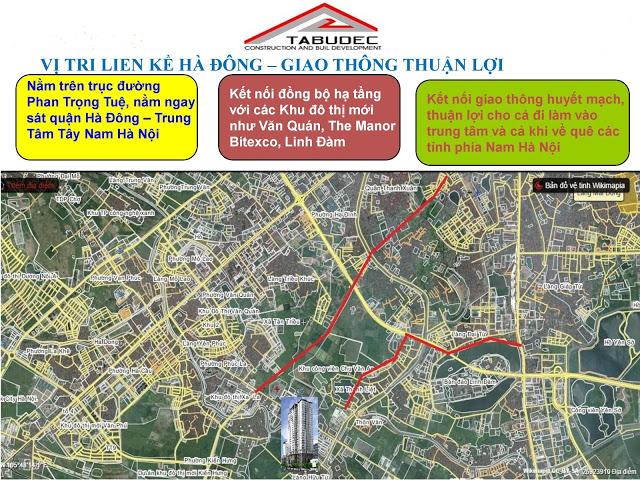 Vị trí dự án Tabudec Plaza Hà Đông