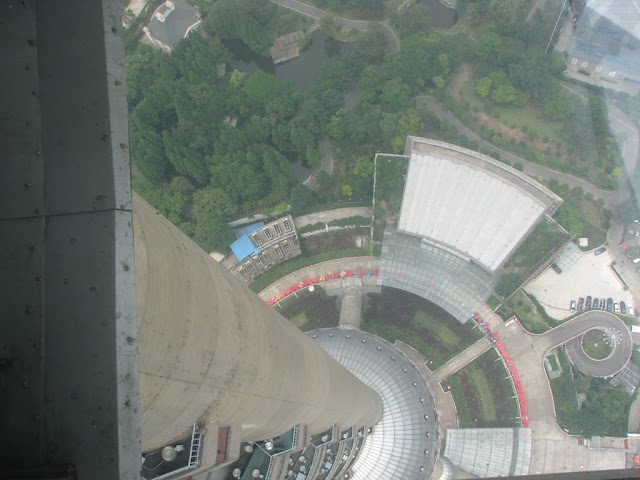 View from Observation Deck in the Oriental Pearl Tower