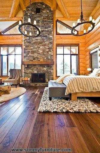 Phòng ngủ mộc mạc cho mùa đông ấm áp-7