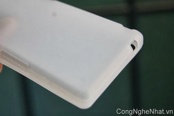 Ốp lưng SHARP SH-01D silicon mầu trắng đục