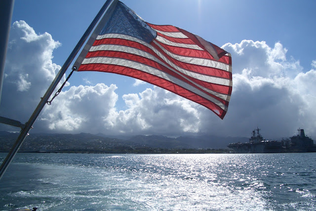 U.S. flag at Pearl Harbor