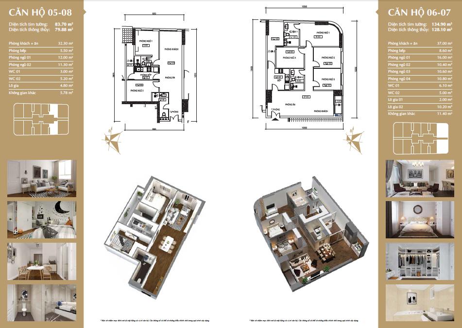 Thiết kế căn hộ 05-08 & 06-07