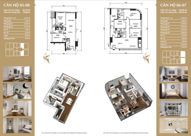 Chi tiết căn hộ chung cư Giải Phóng