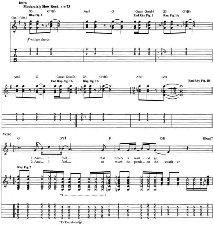 Stone Temple Pilots Plush Guitar Tabs