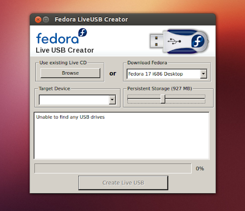 Fedora LiveUSB Creator su Ubuntu