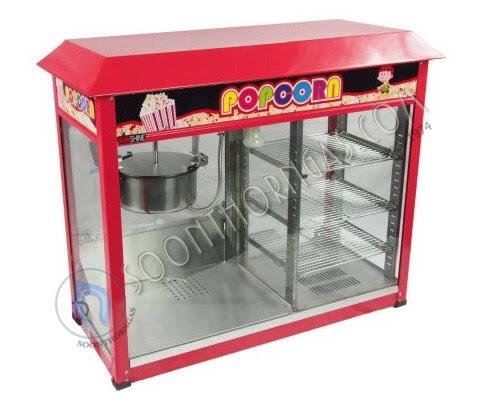ตู้ทำป๊อปคอร์นพร้อมตู้โชว์ร้อน SUNSHINE รุ่น SH-PMW08
