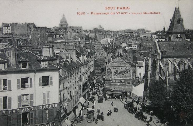 Les rues de Paris à l'´époque
