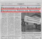 O Regional: Professores da ETEC realizam protesto na visita de Alckmin