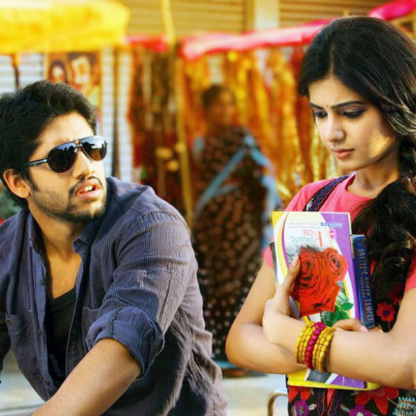 Naga Chaitanya and Samantha in a still from the Tamil movie Autonagar Surya. www.moviegalleri.net