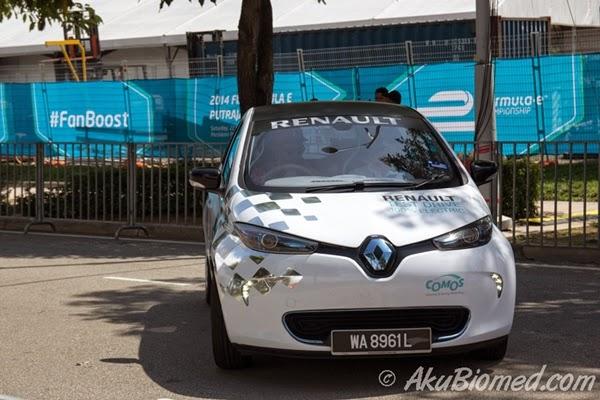 kereta elektrik Renault Comos