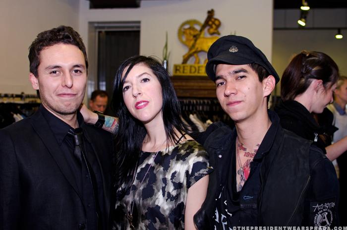 Designers David Angel & Nicolas Rivero with Redeem owner Lori