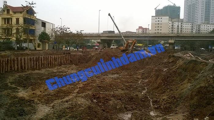 Tiến độ thi công Chung cư Vp6 Linh Đàm ngày 11/03/2014