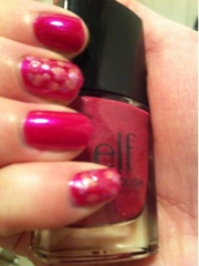 E.l.f nailpolish berry