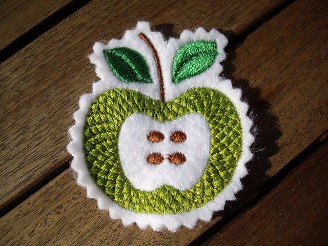 Stickdatei Apfel PES